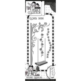Yvonne Creations Stamping and embossing stencil, flower swing with Pergola