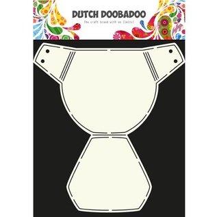 Dutch DooBaDoo A4 Schablone: Karte Layout Baby Sache