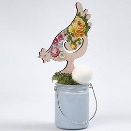 Objekten zum Dekorieren / objects for decorating NEU: Hühner, H 26+19,5 cm, 2 sortiert