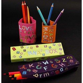 Objekten zum Dekorieren / objects for decorating Stiftebox, Größe 21x6x2,5 cm