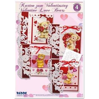 """BASTELSETS / CRAFT KITS Craft Kit, kort til forskellige lejligheder """"kærlighed bjørne"""""""