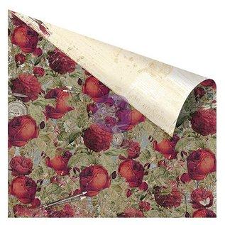 "Designer Papier Scrapbooking: 30,5 x 30,5 cm Papier Designer papir, ""Roser er røde"" 30,5 x 30,5 cm"