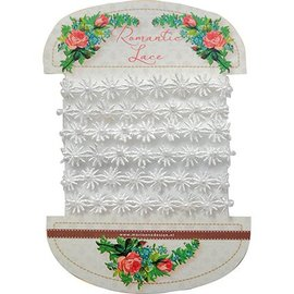 DEKOBAND / RIBBONS / RUBANS ... encaje muy bonito romántico - flores románticas de encaje