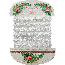 DEKOBAND / RIBBONS / RUBANS ... sehr hübsche Romantik Spitze - Romantik Spitze Blumen