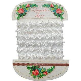 DEKOBAND / RIBBONS / RUBANS ... Fleurs de dentelle romantique, 100cm