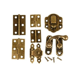 Embellishments / Verzierungen Mini Fittings, size 30 mm, antique gold