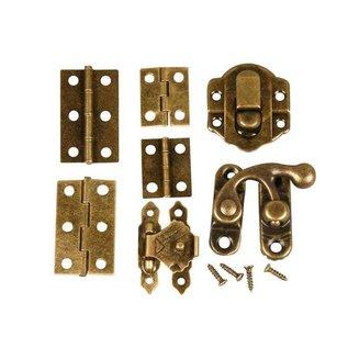 Embellishments / Verzierungen Mini Fittings, str. 30 mm, antik guld