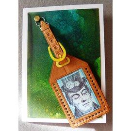 Docrafts / X-Cut Puncionar e estampagem stencils, matrizes de corte (9 peças) - tudo a bordo - Tag da bagagem (grande)