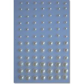 Embellishments / Verzierungen Adhesive beads, cream color