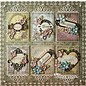 Spellbinders und Rayher Metal skabelon Shapeabilities, indrammet Fancy Mærkater 3, 4 x 1-10,9 x 3,1 cm, 6 stykker