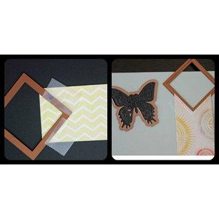 Spellbinders und Rayher Metallschablone Shapeabilities, Asian Accents, ~ 2,8 x 2,7 - 22 x 2,5 cm. Ein Set mit 6 Schablone!