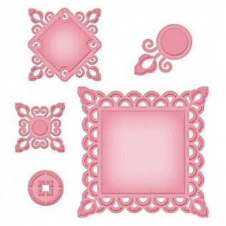 Marianne Design Metal template Shapeabilities, Asian Motifs, ø 2.7 to 10 x 10 cm, A Set of 5 templates!