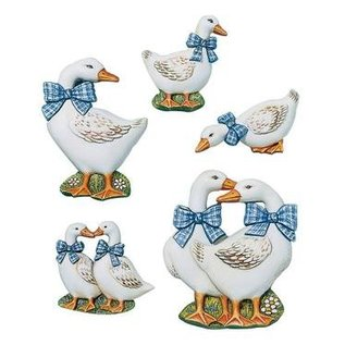 GIESSFORM / MOLDS ACCESOIRES Geese, 7-12cm, 5 pcs., Material requirements 400 g,