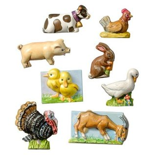 GIESSFORM / MOLDS ACCESOIRES Farm, 3 to 4 cm, 8 pcs, Material Requirements 240 g
