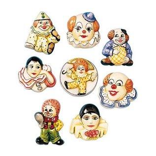 GIESSFORM / MOLDS ACCESOIRES 6 Clownbroschen, Gießformen, 4-5cm