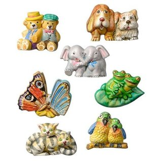 GIESSFORM / MOLDS ACCESOIRES couples d'animaux en moule, 6-5 cm, 8 pcs., Matériel fournissent 280 g,
