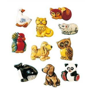 GIESSFORM / MOLDS ACCESOIRES Animal brooches, molds, 3-4 cm