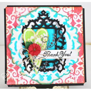 Spellbinders und Rayher Metallschablone Samantha Walker, Antique Frame and Accents