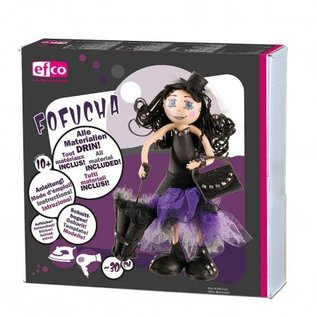 FOFUCHA Fofucha Gothic Girl Craft Kit, 30 cm, 49 dele