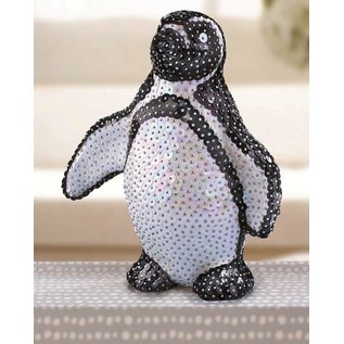 Objekten zum Dekorieren / objects for decorating 1 styrofoam form Penguin stående, 180 mm