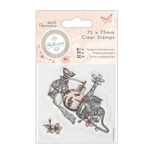 Stempel / Stamp: Transparent Klare frimærker, 75 x 140mm Mini Clear Stamp - Bellisima - Kjole
