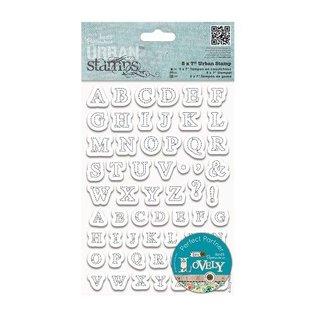 Docrafts / Papermania / Urban Transparent Stempel, 12 x 17 cm, Urban Stamp - borduurte Buchstaben (Stitched Alphabets