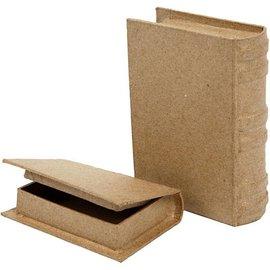 Objekten zum Dekorieren / objects for decorating 2 caja en forma de libro en dos tamaños!