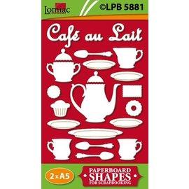 Embellishments / Verzierungen motifs Chipboard Café au Lait