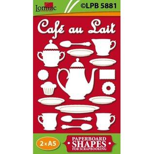 Embellishments / Verzierungen Chipboard Motive Café au Lait