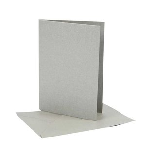 KARTEN und Zubehör / Cards Kort str. 10,5 x15 cm, 10 Set valg: guld, sølv eller creme farve