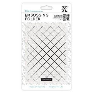embossing Präge Folder A2 prægning mapper gitter motiv