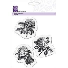 Cart-Us francobollo trasparente, 3 rose