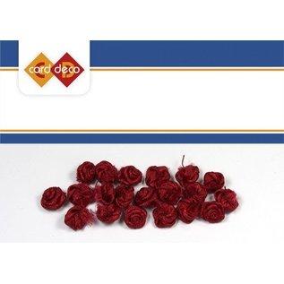 DEKOBAND / RIBBONS / RUBANS ... petites roses rouges, 20 pièces