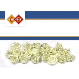 Embellishments / Verzierungen 20 hvide roser