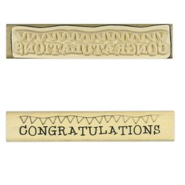 Stempel / Stamp: Holz / Wood Anita `s - træ tekst stempel