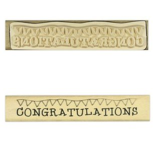 "Stempel / Stamp: Holz / Wood ""Congratulations"""