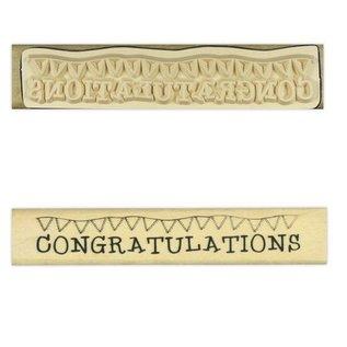"""Stempel / Stamp: Holz / Wood """"Tillykke"""""""