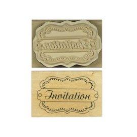 Stempel / Stamp: Holz / Wood L `Anita - bois anglais tampon de texte