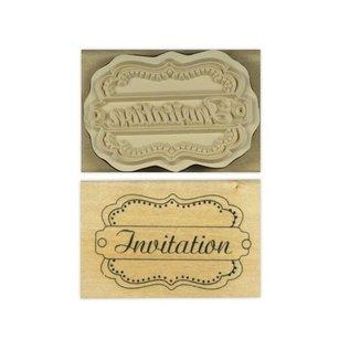 "Stempel / Stamp: Holz / Wood ""Invitation"""