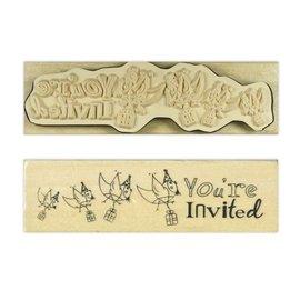 Stempel / Stamp: Holz / Wood Anita `s - madeira Inglês carimbo de texto