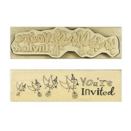 Stempel / Stamp: Holz / Wood Anita `s - wood English text stamp