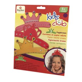 Kinder Bastelsets / Kids Craft Kits Corone di cartapesta, Trio, piccola principessa