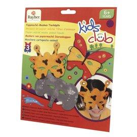 Kinder Bastelsets / Kids Craft Kits Kit Artesanato: máscaras de papier maché, Trio, mundo animal engraçado
