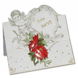 KARTEN und Zubehör / Cards 3 engel-kort + 3 konvolutter i hvidt