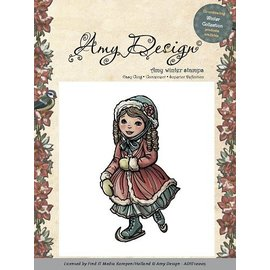 AMY DESIGN Amy Design - Rubber Stamp - Schaatsend meisje