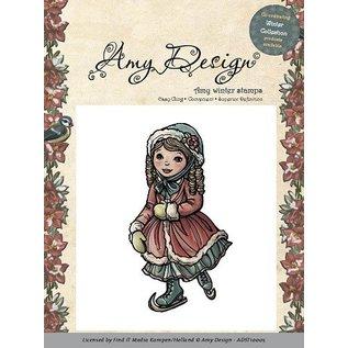 AMY DESIGN Amy Design - Rubber Stempel - Skating girl