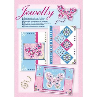 Komplett Sets / Kits Bastelset, Jewelly Butterflies set, leuchtend schöne karten mit Sticker