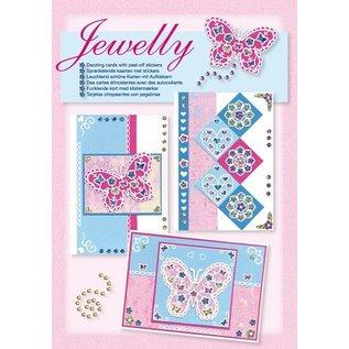 Komplett Sets / Kits Kit Craft, Jewelly Papillons ensemble, de belles cartes brillantes avec autocollant