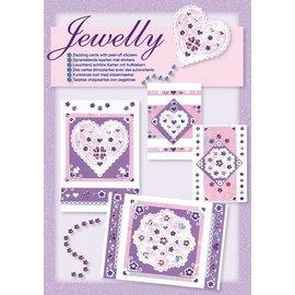 Komplett Sets / Kits Novo; Bastelset, conjunto Jewelly floral, bonito brilhante cartões com adesivo
