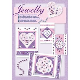 Komplett Sets / Kits NUEVOS; Bastelset, conjunto Jewelly floral, hermosas tarjetas de brillantes con etiqueta